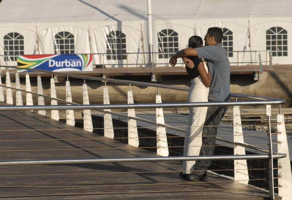 Durban, KwaZulu-Natal province: Couple at the Royal Yacht Club