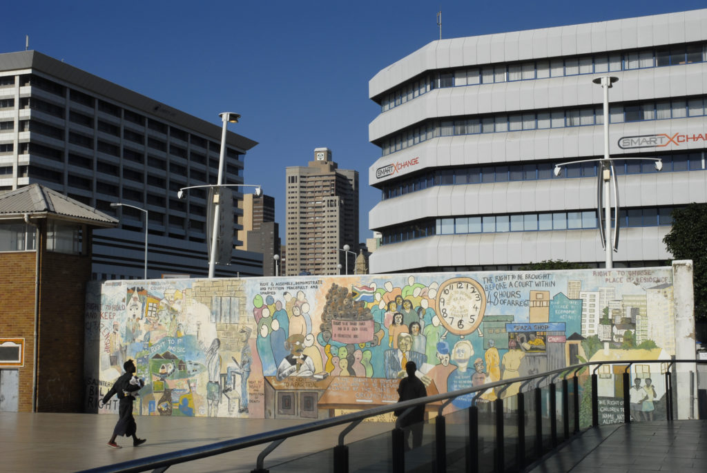 Mural in City Centre, Durban.