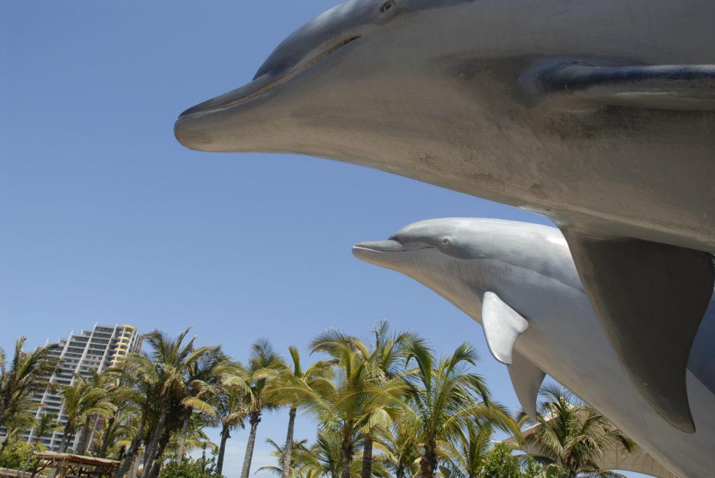 The dolphin arena at Sea World in the uShaka Marine World theme park