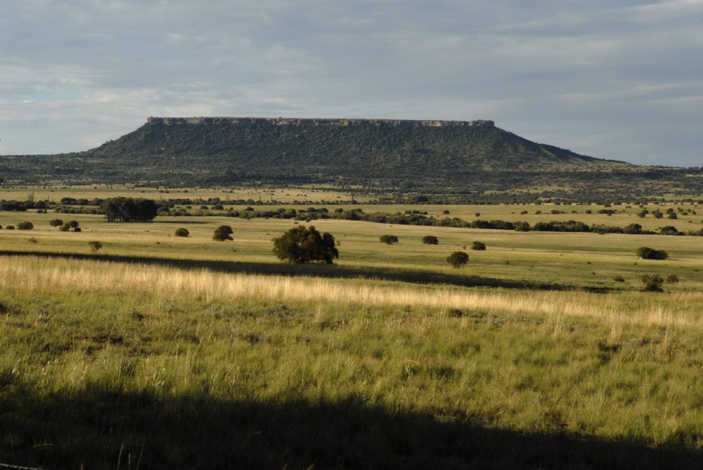 South Africa, Free State: A flat topped mesa in the Koranna Mountains