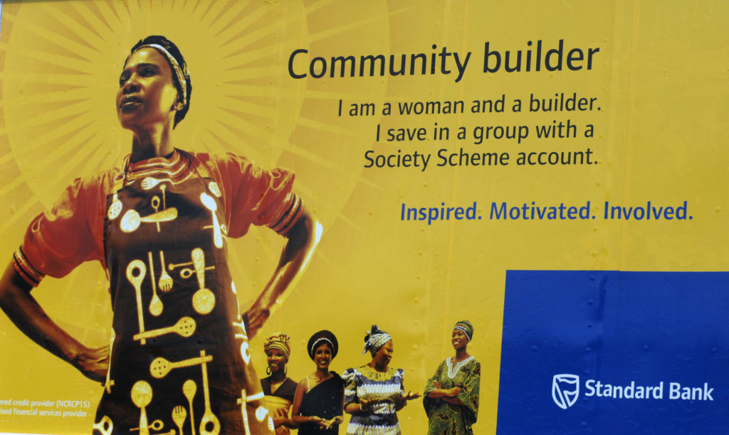 Bloemfontein, Free State: A positive community image used in bank advertising