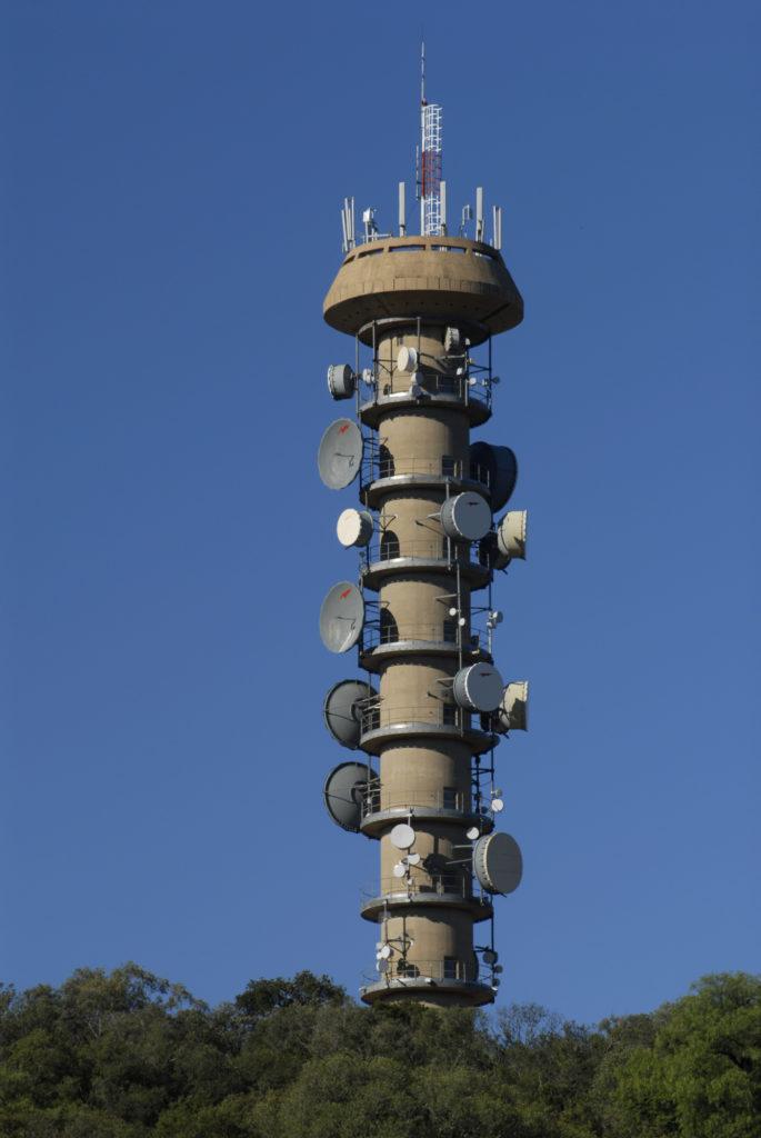 Free State: Telkom's microwave tower on Naval Hill, Bloemfontein