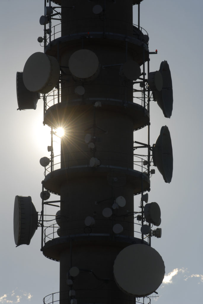 Bloemfontein, Free State province: Telkom's microwave tower on Naval Hill