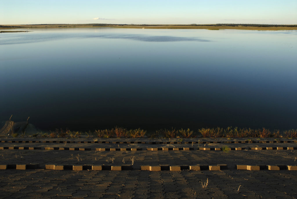 South Africa, Free State: The Krugersdrift Dam, west of Bloemfontein.