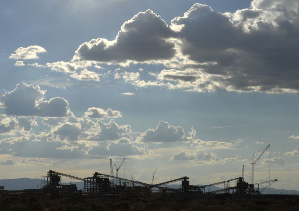 The primary crusher structure at the new Kumani Mine, near Kathu