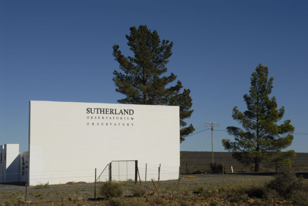 Sutherland, Northern Cape province: Entrance to the Sutherland Observatory