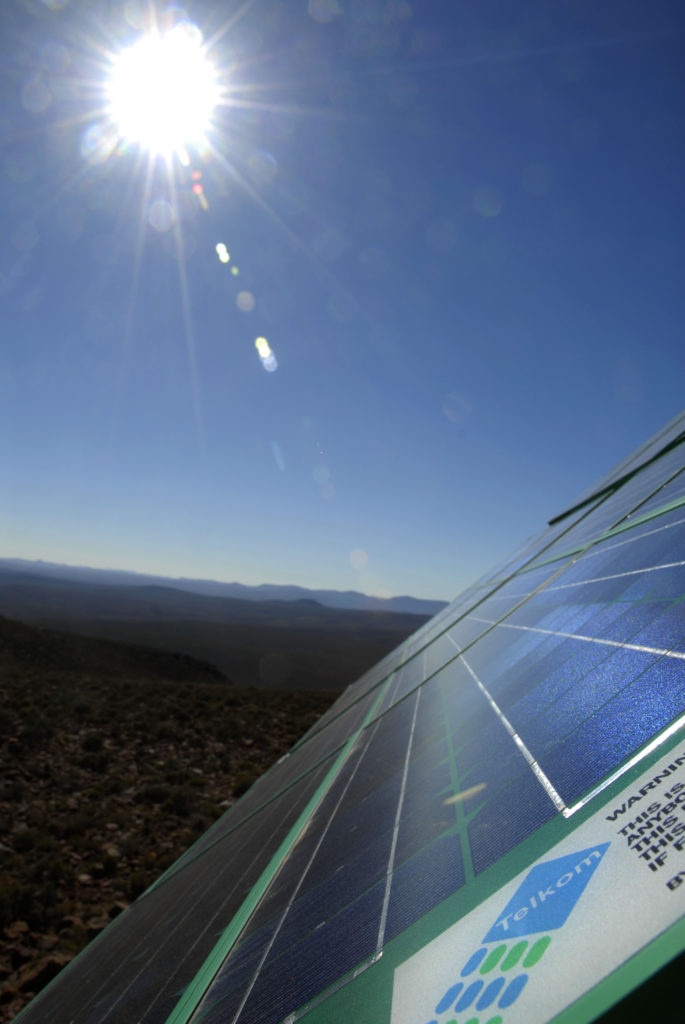Sutherland, Northern Cape province: Solar-powered cellular phone mast