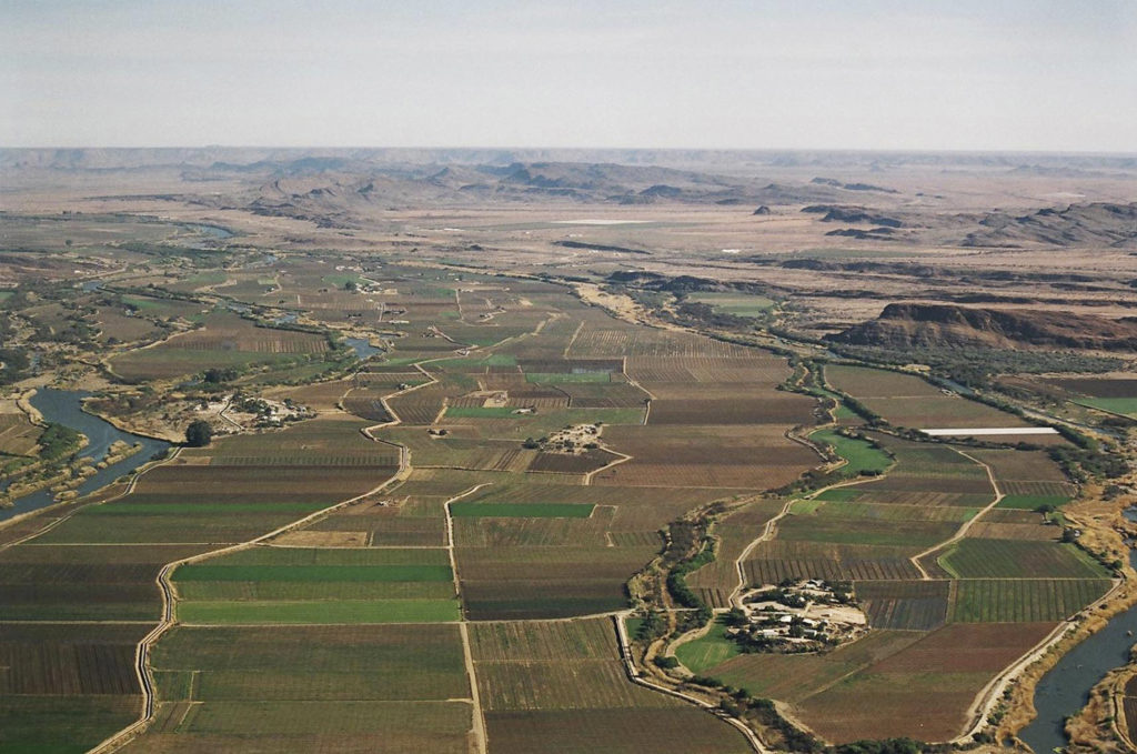 Upington, South Africa: Aerial photographs of the Orange river