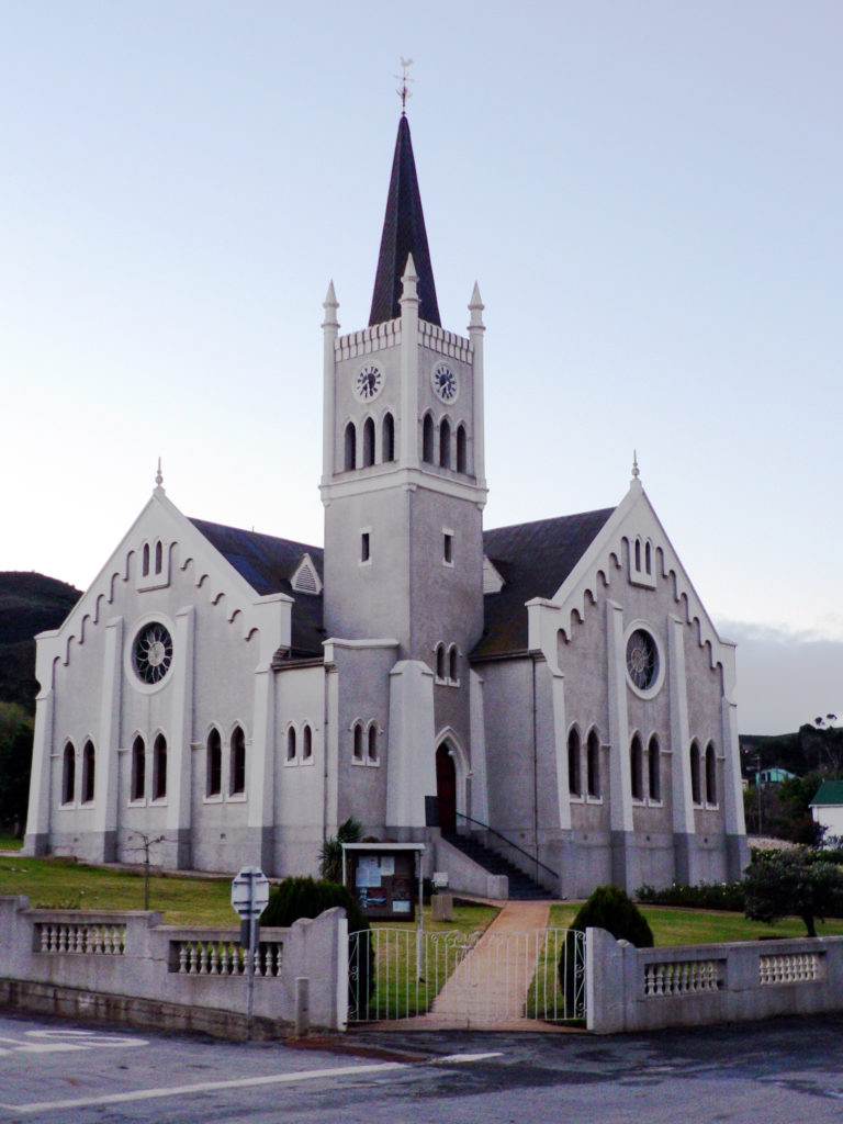 Western Cape province: The church in the town of Barrydale