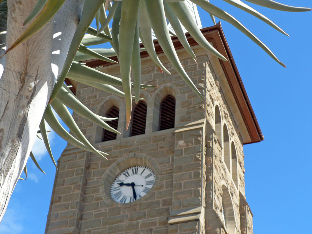 Western Cape province: Church tower in a Karoo town
