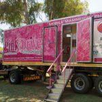breast cancer pinkdrive truck