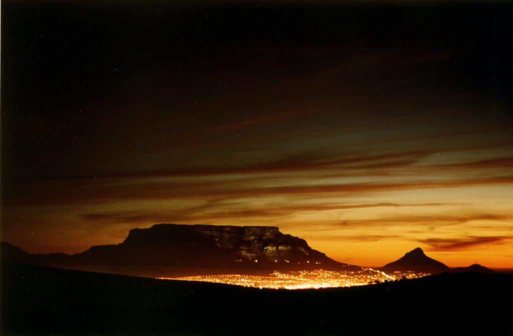 Western Cape province: A view of Cape Town and Table Mountain