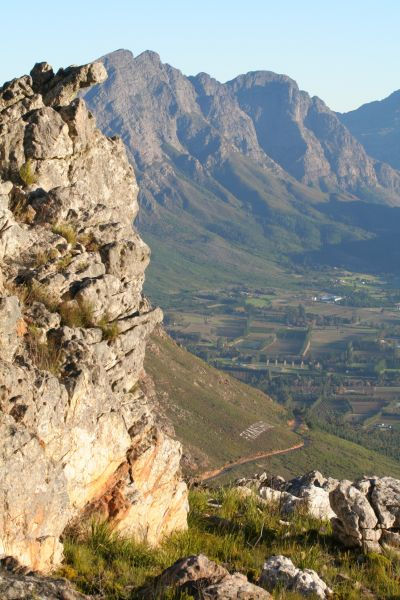 Franschhoek, Western Cape: A view into the Franschhoek Valley