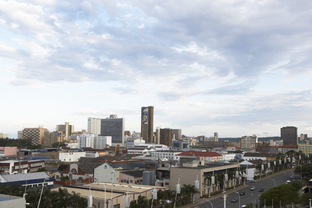 Durban, KwaZulu-Natal province: The city skyline