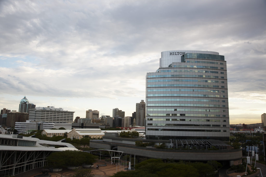 The Hilton Hotel and city skyline, Durban