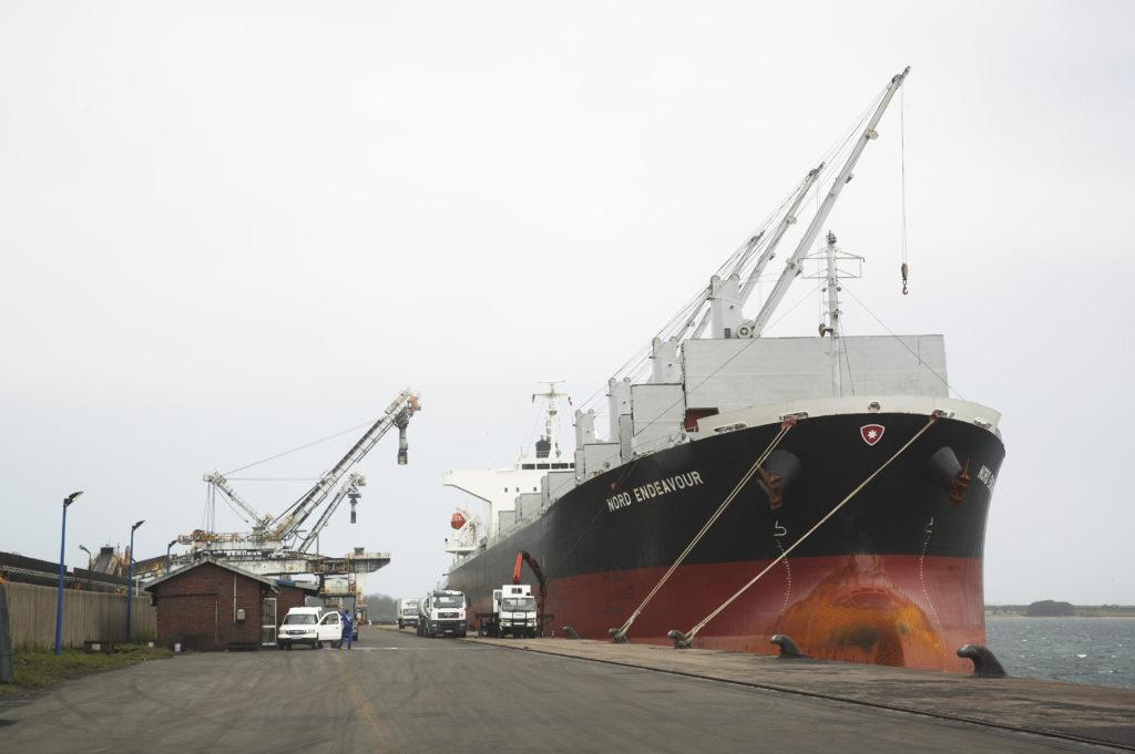 Richards Bay, KwaZulu-Natal province: The harbour