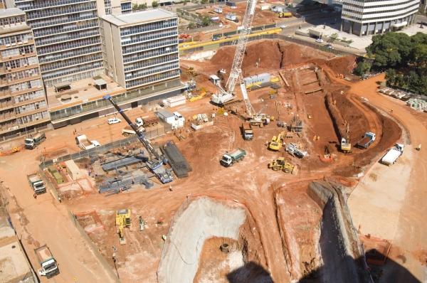 Johannesburg, Gauteng province: Construction in progress on Park Station
