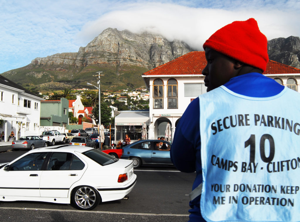 Amos Sibanda in Camps Bay, South Africa