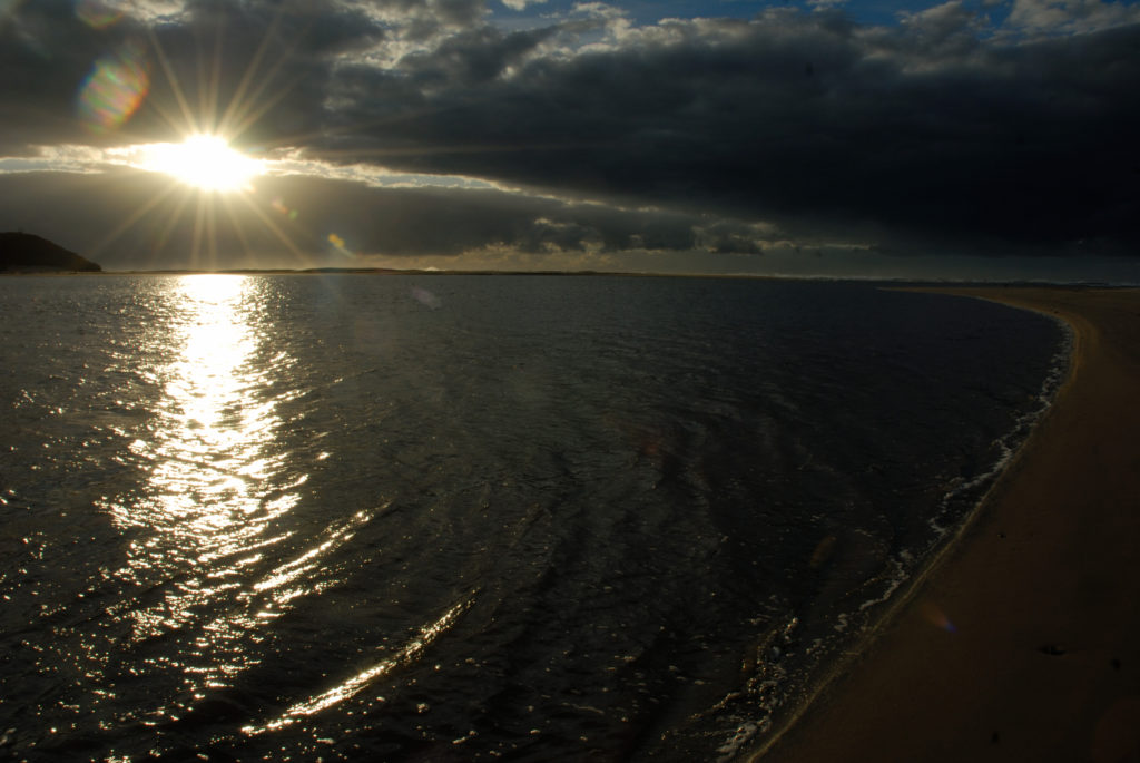 Beach near the village of Keimouth, where the Kei River flows into the sea, on the Wild Coast