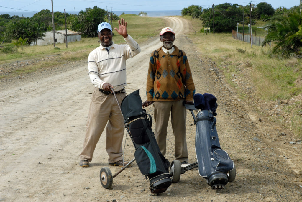 On their way to the Qholora Bay Golf Course for a round of golf