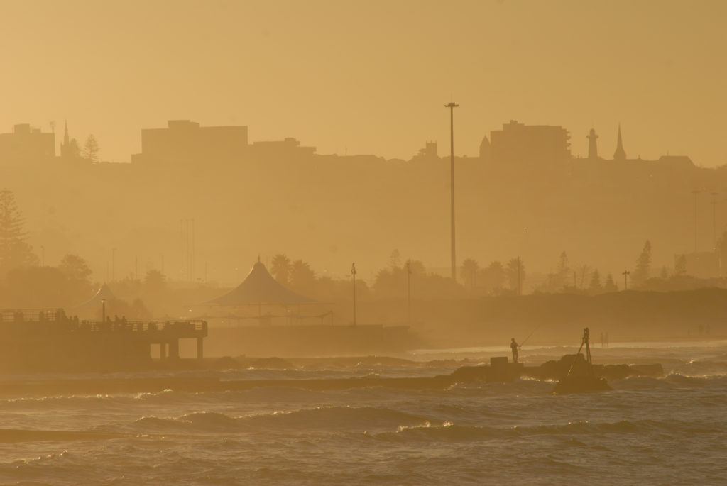 Port Elizabeth, Eastern Cape province: Sunset on the beachfront