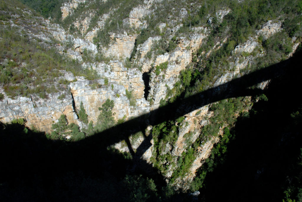 Eastern Cape: View from the Storms River Bridge in the Tsitsikamma National Park