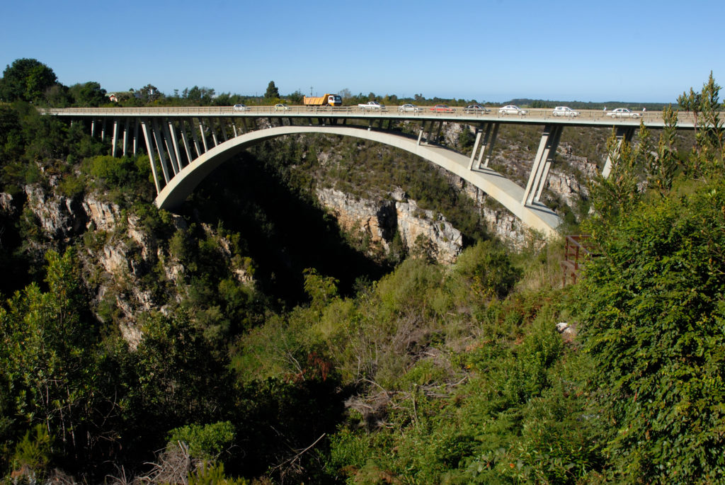 South Africa, Eastern Province. The bridge over the Storms River