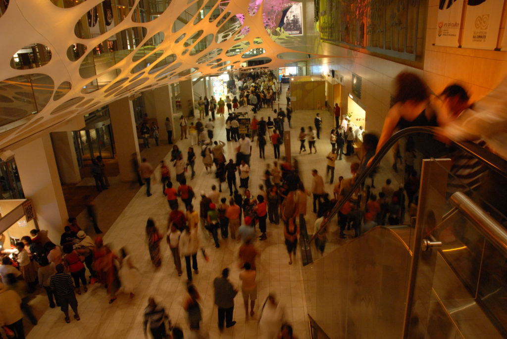 Crowds throng the hallways of the Cape Town International Convention Centre during the 2008 Cape Town International Jazz Festival