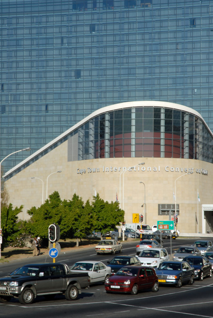 The Cape Town International Convention Centre in the city centre