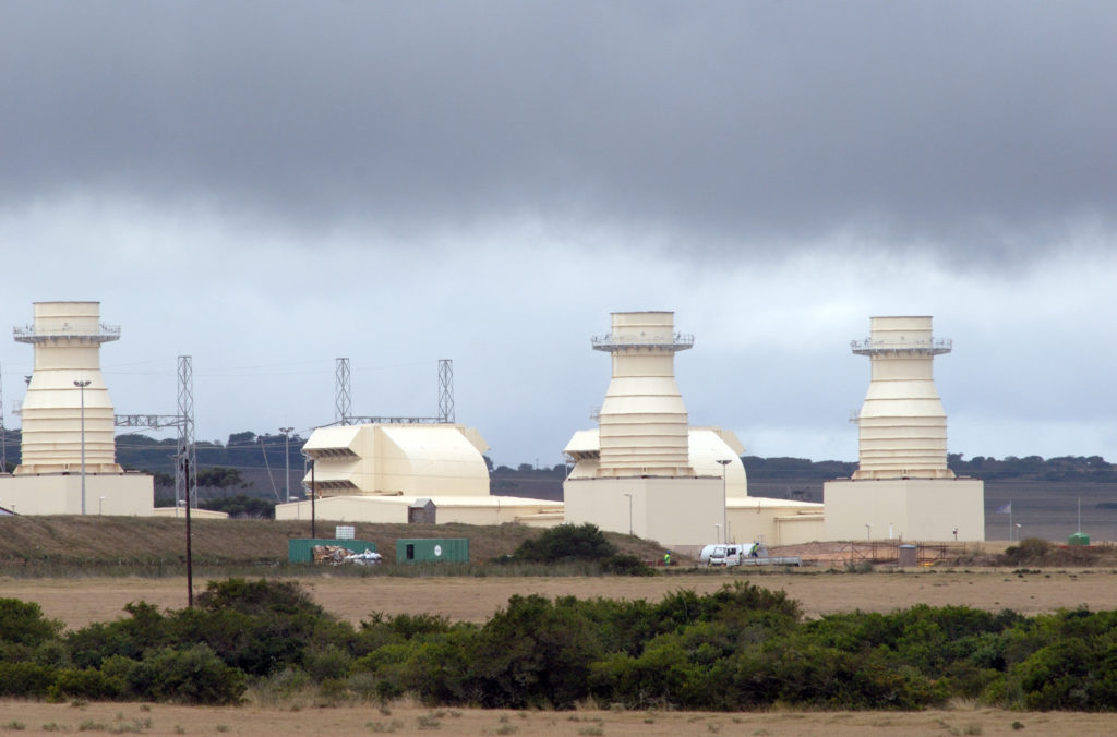 Mossel Bay, Western Cape: Gas turbine power station under construction