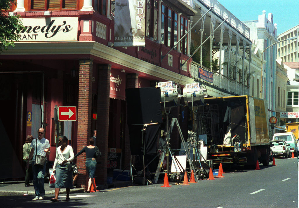 Cape Town, Western Cape province: A German film production in Long Street