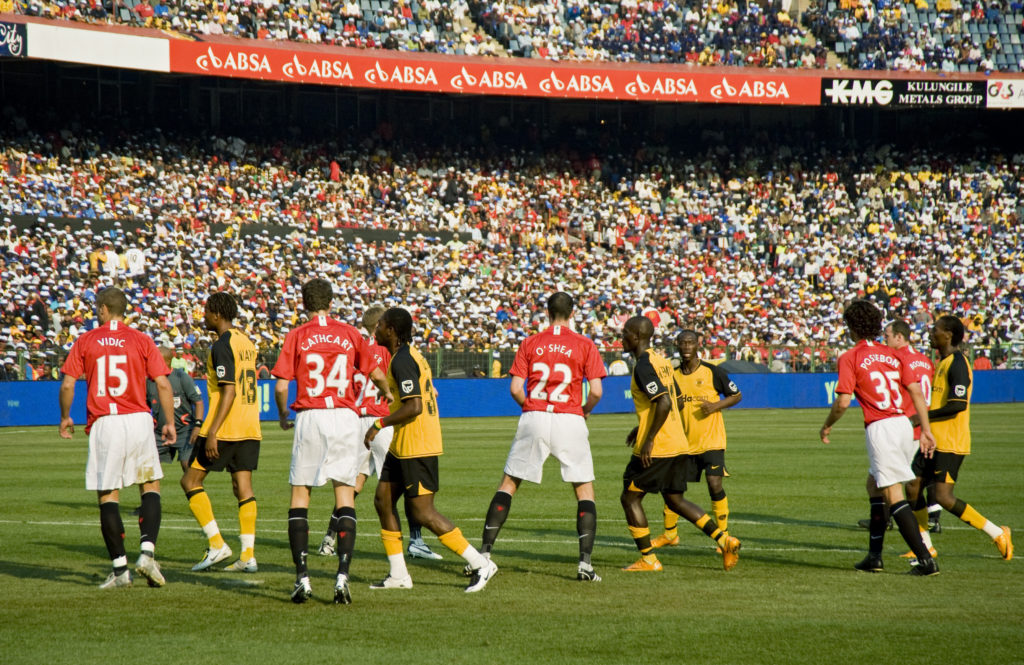 Top South African club Kaizer Chiefs playing UK's Manchester United
