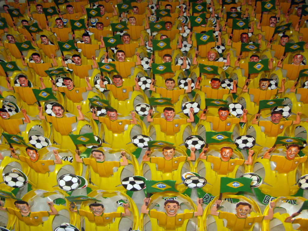 Makarapas – South African football fans' elaborate and colourful helmets