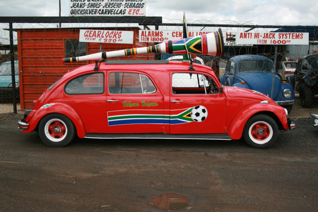 Beetle mania: With eye-catching stretch limousines crafted from old Volkswagen Beetles