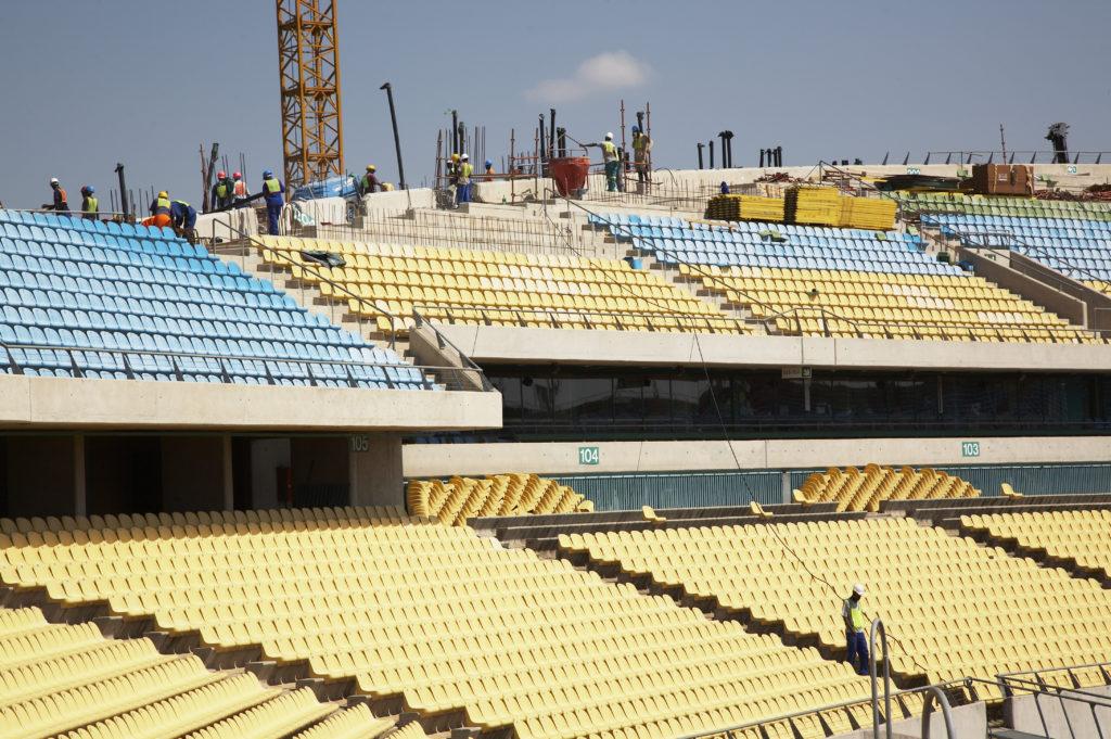Royal Bafokeng Stadium under construction