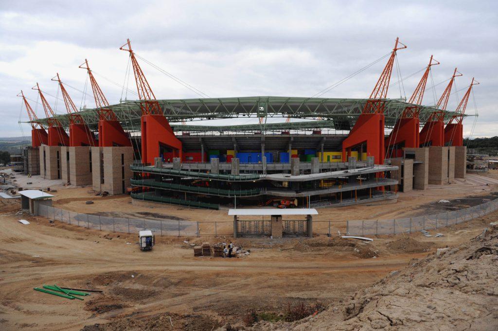Mbombela Stadium under construction