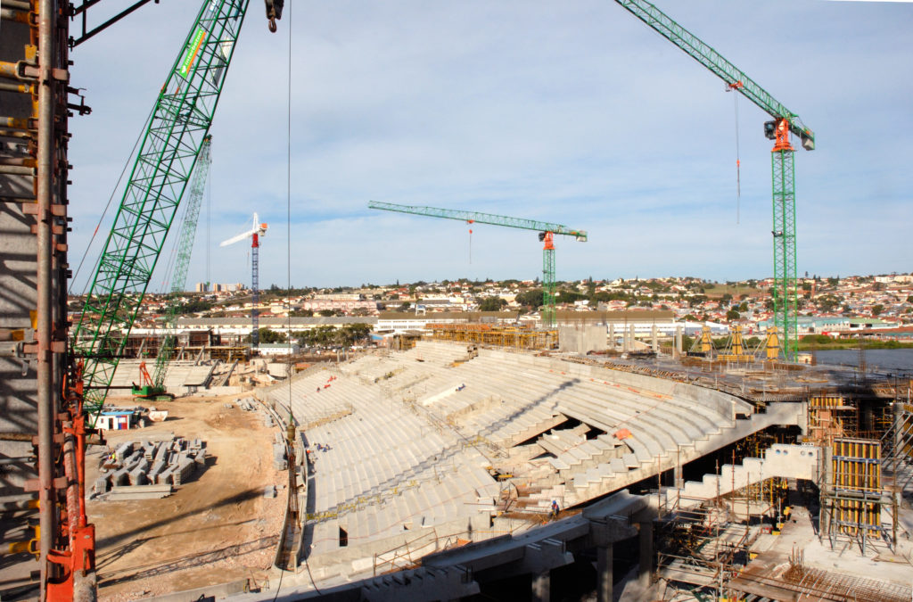 Nelson Mandela Bay Stadium under construction