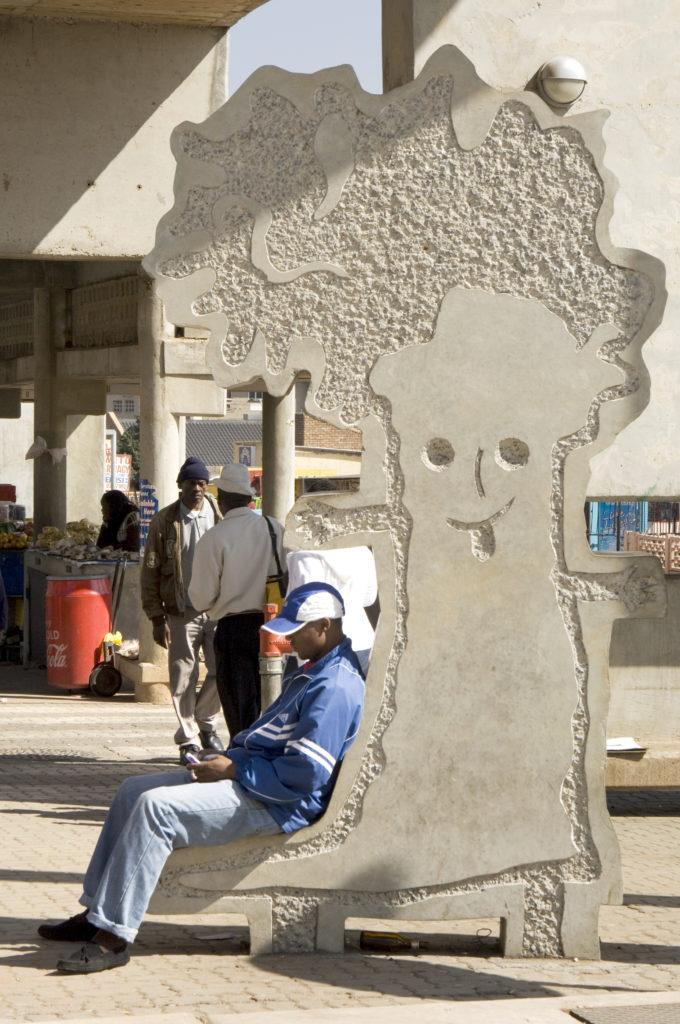 Johannesburg, Gauteng: Public artwork at the Baragwanath minibus taxi rank, Soweto