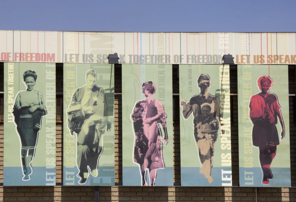 Johannesburg, Gauteng: Artwork at Freedom Square, Soweto