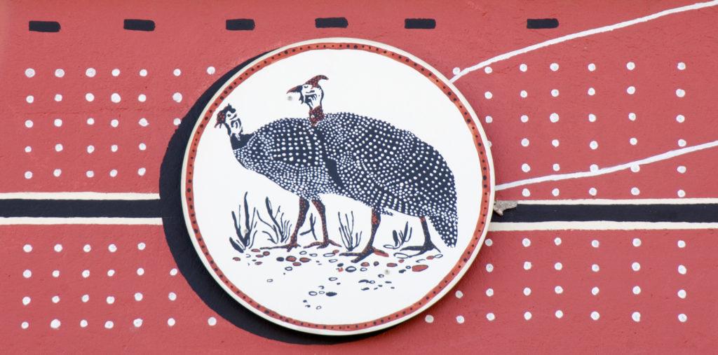Johannesburg, Gauteng province: Detail of artwork