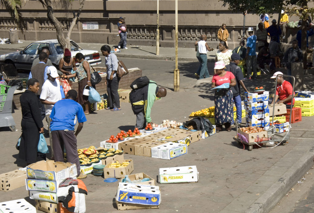 Johannesburg, Gauteng province: Informal traders in the city centre