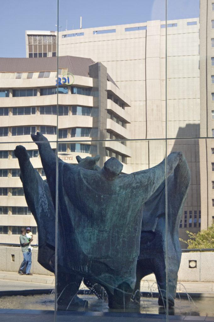 Johannesburg, Gauteng province: The Playmakers ,a sculpture by Ernest Ullman