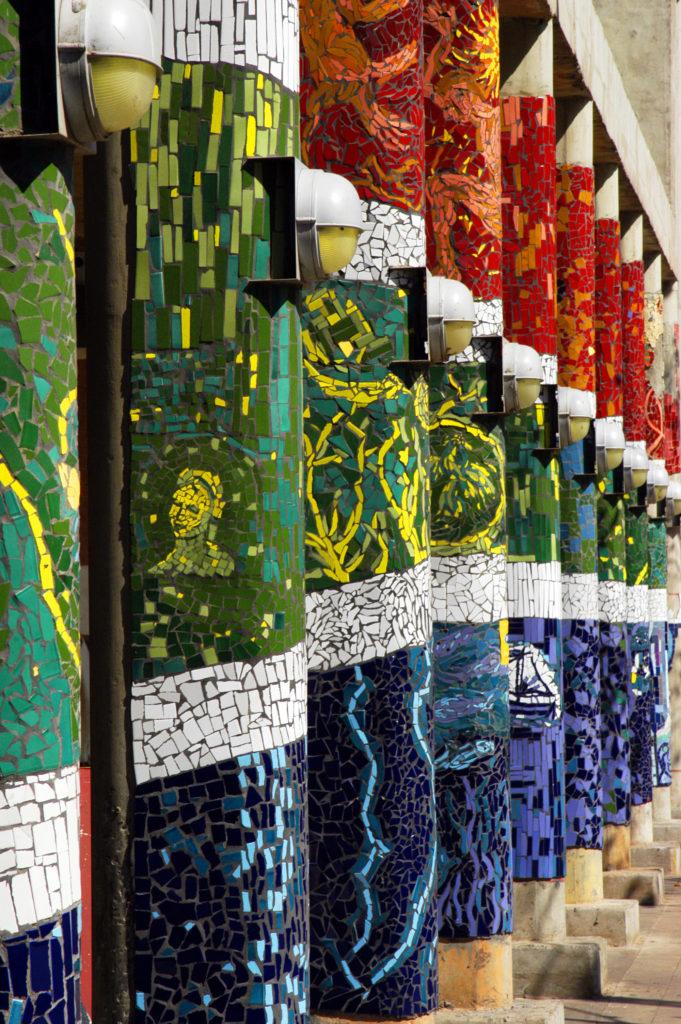 Johannesburg, Gauteng: Mosaic at the Metro minibus taxi rank