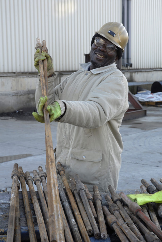 Welkom, Free State province: Store controller Mareka Mthokho, Harmony Gold Mine