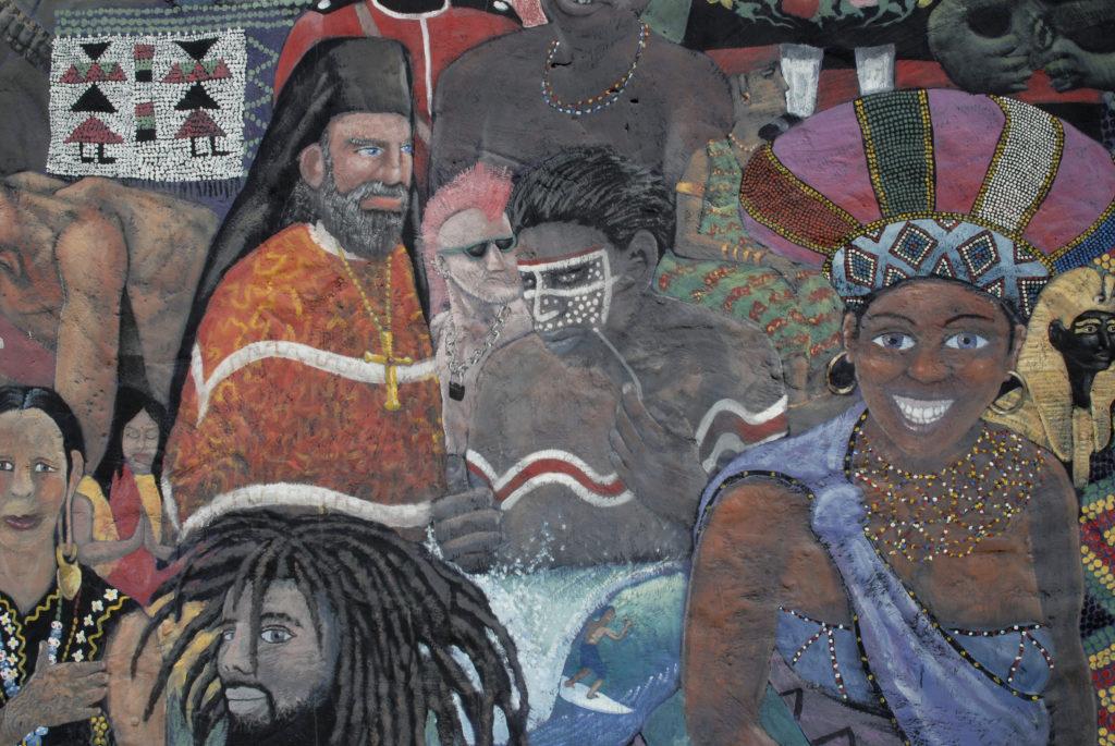 Central Drakensberg, KwaZulu-Natal: Mural at the Thokozisa Information Centre