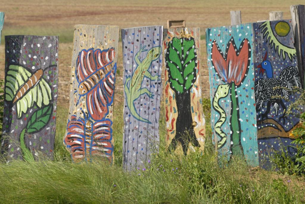Central Drakensberg, KwaZulu-Natal: Artwork for sale at the side of the road