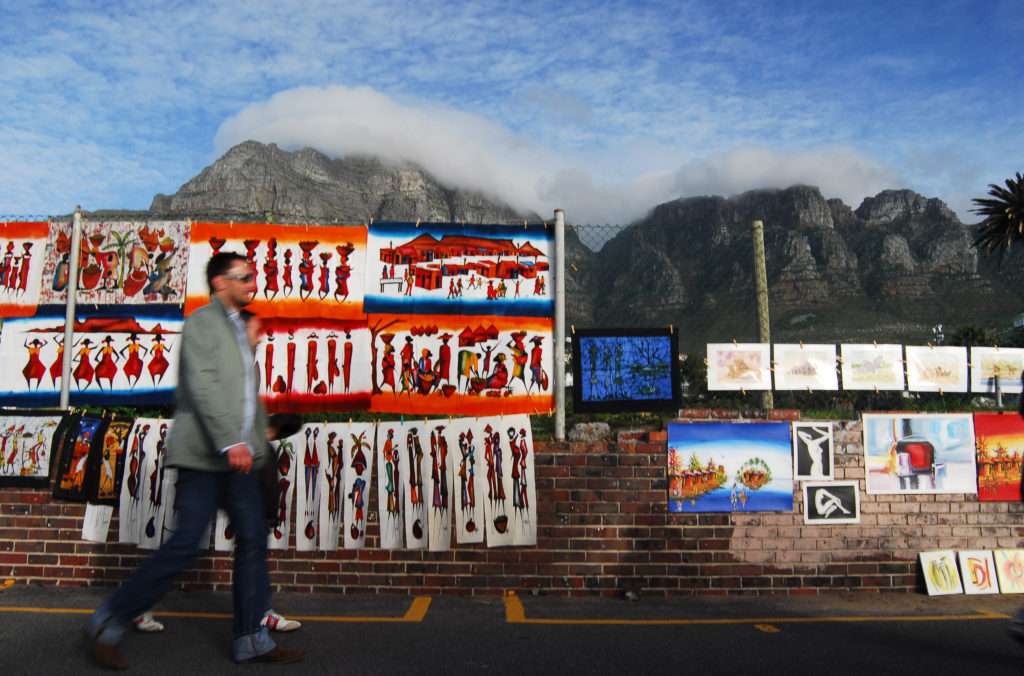 Cape Town, Western Cape province: Artwork for sale on the street