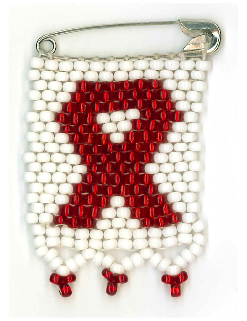 The uniquely South African HIV/Aids ribbon, woven from beads