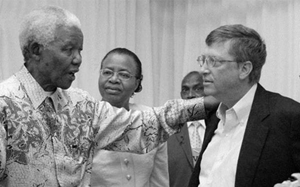 Bill Gates and Nelson Mandela