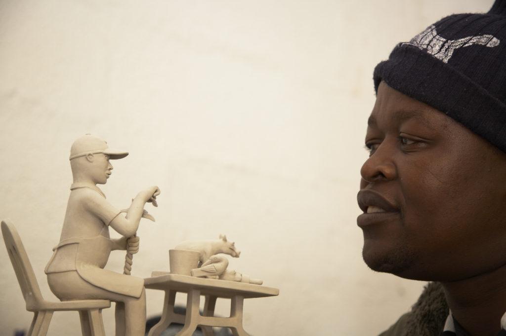 KwaZulu-Natal Midlands: Petros Gumbi, a ceramic artist at the Ardmore Ceramics studio